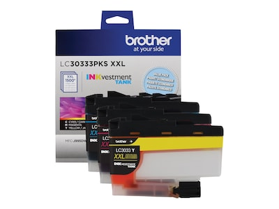 Brother Color LC30333PKS INKvestment Tank Super High Yield Ink Cartridges (3-pack), LC30333PKS, 35855578, Ink Cartridges & Ink Refill Kits - OEM