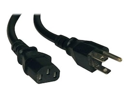 Tripp Lite AC Power Cord NEMA 5-15P to IEC-320 C13 125V 10A 18AWG SJT Black 20ft, P006-020, 16275906, Power Cords