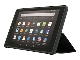 Incipio Clarion Shock Absorbing Translucent Folio for Amazon Kindle Fire HD 8, Black, AK-425-BLK, 34569545, Carrying Cases - Tablets & eReaders