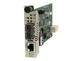 Transition 2KM 100BTX to 100BFX Ion Card RJ45 to MM ST, C2110-1011, 11881173, Network Transceivers