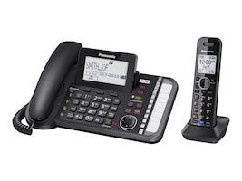 Panasonic Link2Cell Corded Cordless Handset w  2 Lines, KX-TG9581B, 34905107, Telephones - Consumer