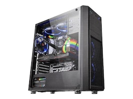 Thermaltake Chassis, Versa H26 Tempered Glass Edition 2x5.25 bays 3x2.5 bays 2x2.5-3.5 flex bays 7xExp. slots, CA-1J5-00M1WN-00, 35701384, Cases - Systems/Servers