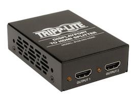 Tripp Lite 2-Port DisplayPort to HDMI Splitter, Multi-display Adapter, TAA, B156-002-HDMI, 15473311, Video Extenders & Splitters