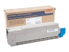Oki Black Toner Cartridge for C610 Series Printers, 44315304, 11475677, Toner and Imaging Components - OEM