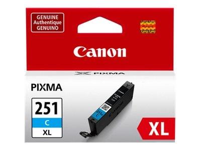 Canon Cyan CLI-251C XL Ink Tank, 6449B001, 15187146, Ink Cartridges & Ink Refill Kits - OEM