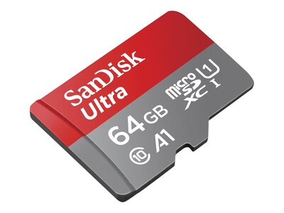 SanDisk 64GB Ultra MicroSDXC Card, Class 10, SDSQUNC-064G-AN6MA, 30569986, Memory - Flash