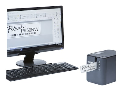 Brother PT-P950NW Wireless Powered Network Laminated Label Printer, PTP950NW, 32399677, Printers - Label