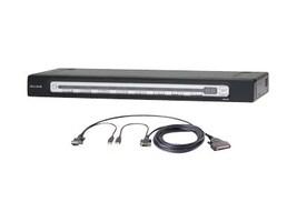 Belkin 16-Port PRO3 KVM Switch Bundle with USB Cable Kits for (16) Servers, F1DA116Z-BU, 8037140, KVM Switches