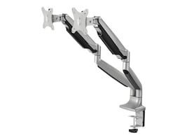 Siig Dual Monitor VESA High Premium Aluminum Gas Spring Desk Mount, CE-MT2E12-S1, 35006120, Stands & Mounts - AV