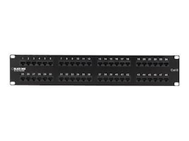 Black Box Cat6 Patch Panel, 48-Port, JPM648A, 10531243, Patch Panels
