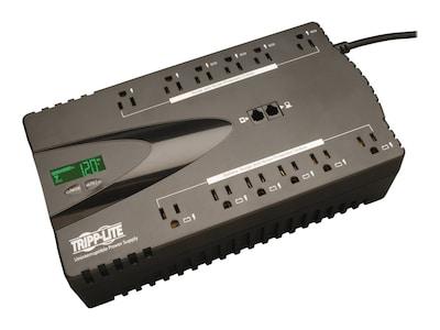 Tripp Lite ECO 850VA 425W 120V Energy-saving Standby UPS, USB Port, (12) 5-15R Outlet, ECO850LCD, 12677342, Battery Backup/UPS