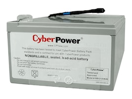 CyberPower Replacement Battery Cartridge, 12V 12Ah for PR1000LCD UPS, RB12120X2B, 34106145, Batteries - UPS