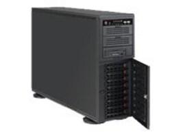 Supermicro 4U SuperChassis, eATX, 7 Slots, 8xSAS SATA HS Bays, 665W PSU, Black, CSE-743T-665B, 10003336, Cases - Systems/Servers
