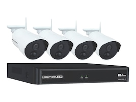 Night Owl 4-Channel 1TB DVR Security System with 4x Bullet 1080p Cameras, WNVR201-44P-B, 34113206, Video Capture Hardware