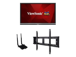 ViewSonic Bundle 55 IFP5550 4K Ultra HD LED-LCD Touchscreen Display with Wireless AC Adapter, Wall Mount, IFP5550-E1, 36339823, Monitors - Large Format