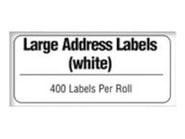 Brother 3.5 x 1.5 Large Address Label Roll for Brother QL-500 & QL-550 Quick PC Label Printer (400-labels), DK1208, 5217575, Paper, Labels & Other Print Media