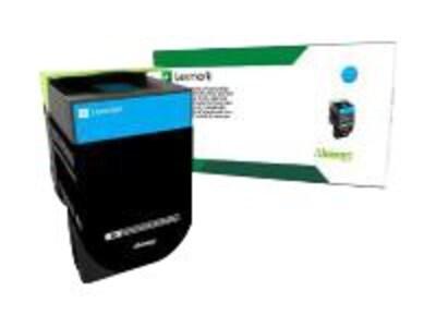 Lexmark Cyan Return Program Toner Cartridge for CS317dn, CS417dn, CX317dn & CX417de, 71B10C0, 33982389, Toner and Imaging Components - OEM