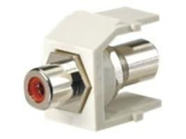 Panduit NetKey F-Type Coax Bulkhead Coupler Keystone Module, White, NKFWH, 34160521, Premise Wiring Equipment