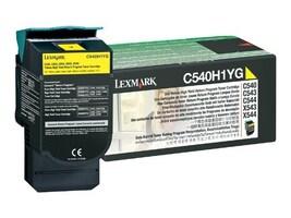 Lexmark Yellow High Yield Return Program Toner Cartridge for C540, C543 & C544 Printers & X543 & X544 MFPs, C540H1YG, 9163931, Toner and Imaging Components