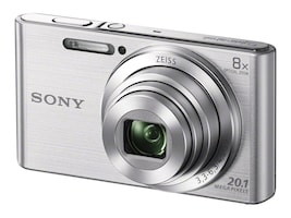 Sony DSCW830 Digital Camera, 20.1MP, 8x Zoom, Silver, DSCW830, 16980306, Cameras - Digital