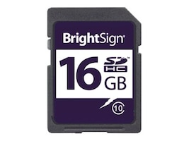 Brightsign BRIGHTSIGN, BRIGHTSIGN APPROVED 16GB CLASS 10 MICROSD CARD, COMPATIBLE, USDHC-16C10-1, 36225615, Digital Signage Systems & Modules
