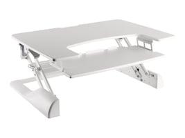 Ergotech 30w Freedom Height Adjustable Standing Desk, White, FDM-DESK-W-30, 33104771, Furniture - Miscellaneous