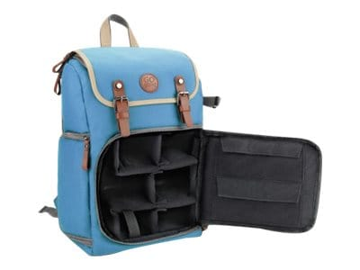 Accessory Genie GoGroove DSLR Camera Backpack w Tablet Compartment, GGBCCBM100BLEW, 36552229, Carrying Cases - Camera/Camcorder