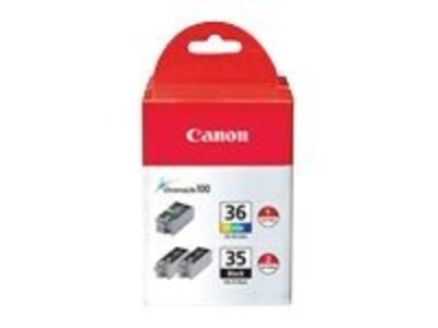 Canon PGI-35 CLI-36 Ink Cartridge Value Pack, 1509B007, 8572089, Ink Cartridges & Ink Refill Kits - OEM