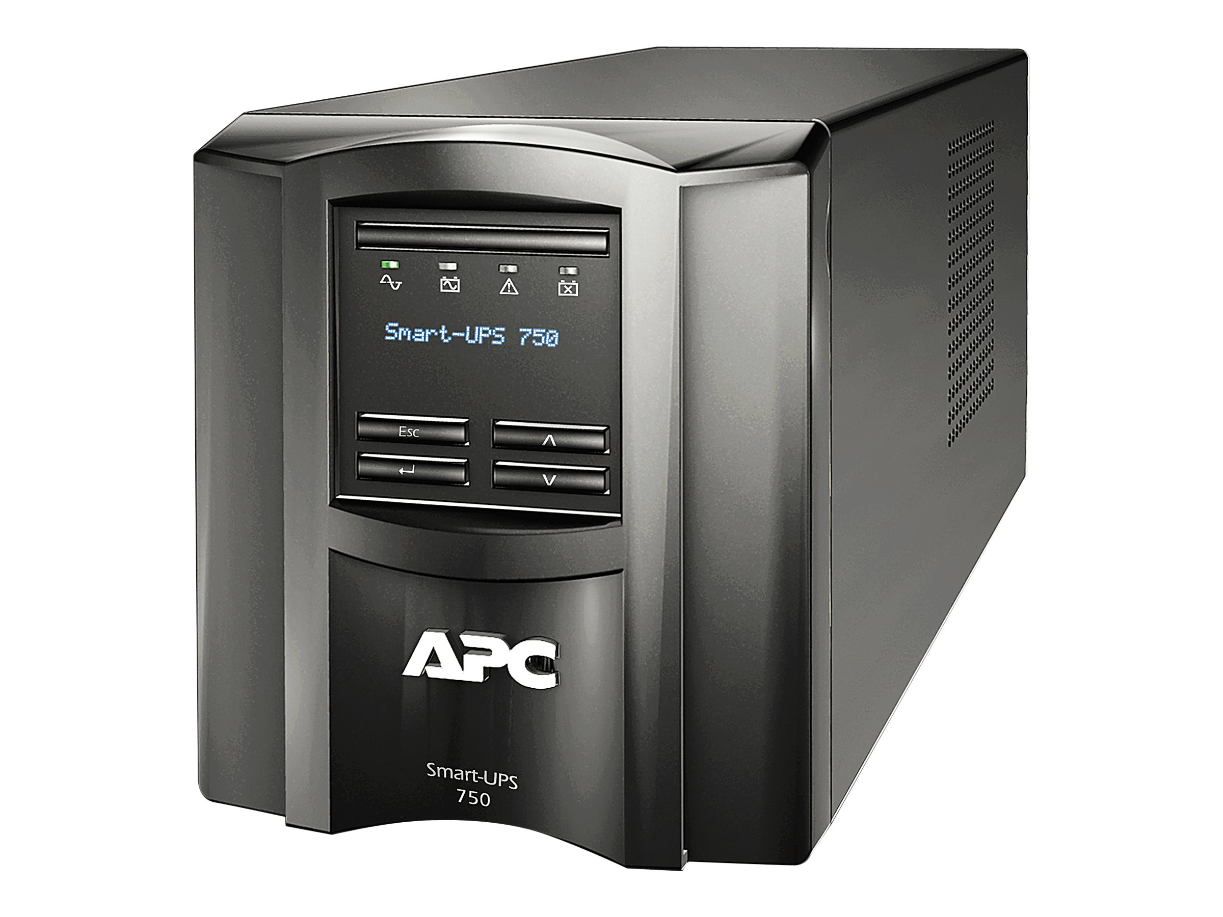 APC Smart-UPS 750VA 500W 120V LCD Tower UPS (6) 5-15R Outlets USB, EXCLUSIVE Buy - Save $12, SMT750, 10334469, Battery Backup/UPS
