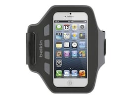 Belkin Ease-Fit Armband, Blacktop for iPhone5, F8W105TTC00, 14860677, Carrying Cases - Phones/PDAs