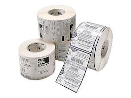 Zebra 4 x 1 Z-Select 4000D Perforated DT Paper Labels (6 Rolls 2340 Labels-Per-Roll), 10010045, 9813083, Paper, Labels & Other Print Media