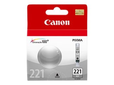 Canon Grey CLI-221 Ink Tank, 2950B001, 9066487, Ink Cartridges & Ink Refill Kits - OEM