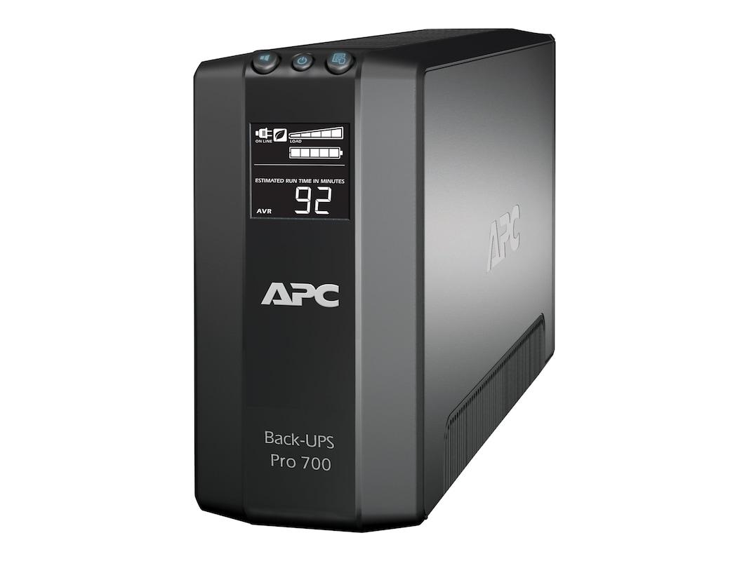 apc power-saving back-ups pro 700va 420w 120v 5-15p input, (6) 5-15r outlets