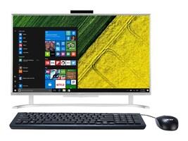 Acer Aspire AIO Core i3-6100U 2.3GHz 8GB 1TB HD520 ac BT GbE WC 23.8 FHD W10H64, Silver, DQ.B7EAA.001, 32920485, Desktops - All-in-One