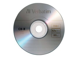 Verbatim 52X 700MB (80 min.) Branded CD-R Media (Slim Jewel Case), 94776, 7548837, CD Media