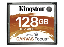 Kingston 128GB Canvas Focus Compact Flash Card, CFF/128GB, 36572932, Memory - Flash