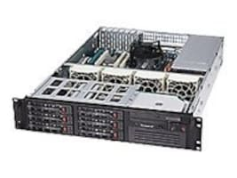 Supermicro Chassis, 2U Rackmount 822T-400LPB, Dual Xeon, EATX, 6 SATA HS, 400W PS, Black, CSE-822T-400LPB, 8230960, Cases - Systems/Servers