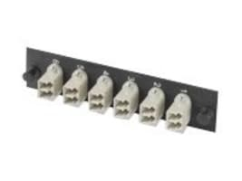 Tyco Govt. Snap-In Adapter Plate, 12-Fiber, LC Duplex, 1374463-1, 10946043, Premise Wiring Equipment
