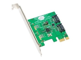 Global Marketing Partners SATA III 2 Internal 6Gbps Ports PCIe Controller Card, SY-PEX40039, 16879671, Controller Cards & I/O Boards