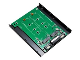Syba 3.5 mount Dual M.2 SSD Slot to two SATA Port Adapter, SY-ADA40088, 34152117, Drive Mounting Hardware