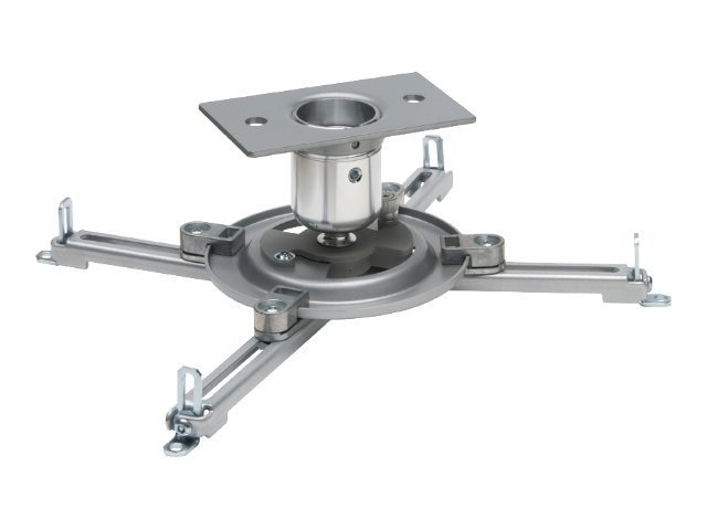Peerless PJF2 Projector Mount with Spider Universal Adaptor Plate for Projectors up to 50 lbs, Silver, PJF2-UNV-S, 5984934, Stands & Mounts - AV