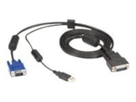 Black Box VGA and USB Type A to HD26 ServSwitch Secure KVM Switch Cable, 6ft, EHNSECURE2-0006, 31252884, Cables