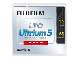 Fujifilm 1.5 3TB LTO-5 Labeled WORM Tape Cartridge, 81110000412, 11717306, Tape Drive Cartridges & Accessories