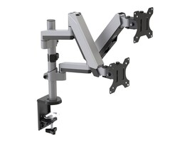 V7 Dual Stack Touch Adjust Monitor Mount for 17-32 Displays, DM1DTAS-1N, 35234763, Stands & Mounts - Desktop Monitors