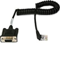 Datamax-O'Neil Coiled DB9 Cable with Right-Angle Connector for MF2i, MF2t, and MF4t Printers, 210164-100, 7007871, Cables