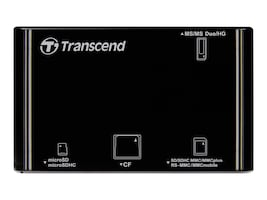 Transcend All-In-One P8 Card Reader - Black, TS-RDP8K, 10076164, PC Card/Flash Memory Readers