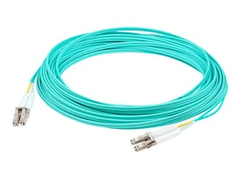 AddOn OM4 Fiber Patch Cable, LC-LC, 50 125, Duplex, Multimode, Aqua, 7m, ADD-LC-LC-7M5OM4, 14702847, Cables
