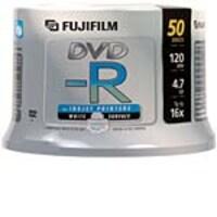 Fujifilm 16x 4.7GB White Inkjet Hub Printable DVD-R Media (50-pack Spindle), 25302478, 7060145, DVD Media