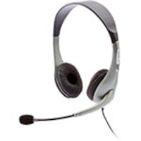 Cyber Acoustics Silver Stereo Headset with Mic, Ambidextrous Design, AC-202B, 7061447, Headsets (w/ microphone)