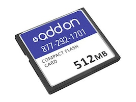 Add On Cisco Compatible 512MB Compact Flash Memory Card, MEM3800-128U512CF-AO, 33018274, Memory - Flash
